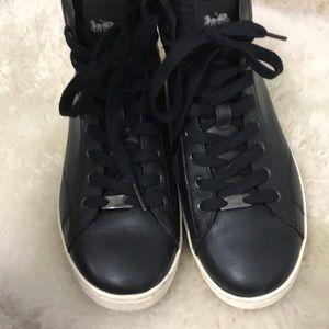 Black Coach Sneakers Size 8.5